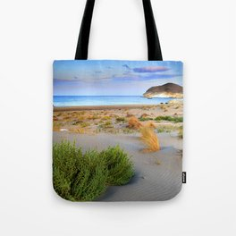 """Genoveses Beach"" Sunset at beach Tote Bag"