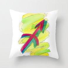 Sagittarius flow Throw Pillow