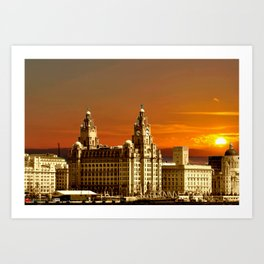 sunset over the graces Art Print