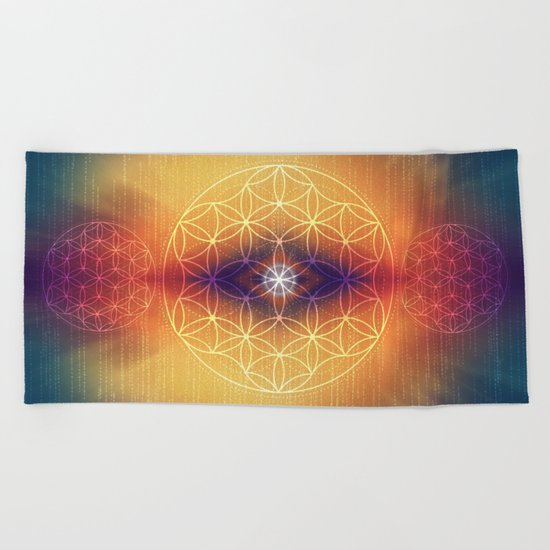 Flower of Life Beach Towel