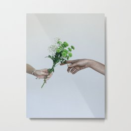 flower hands Metal Print