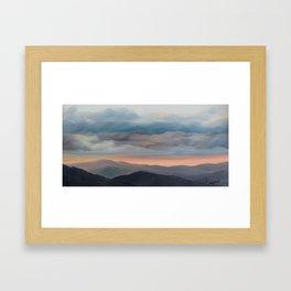 Sunset on the Blue Ridge Parkway Framed Art Print