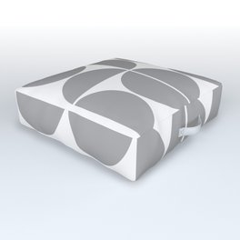 Mid Century Modern Geometric 04 Grey Outdoor Floor Cushion