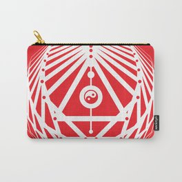 Radiant Abundance (white-red) Carry-All Pouch