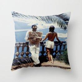 Nice Matin Photo Throw Pillow