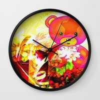 arnold Wall Clocks featuring Arnold celebrates Christmas by shiva camille