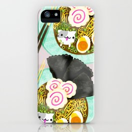Ramen Cats Pattern iPhone Case