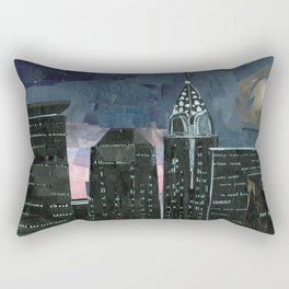 Night time in the city Rectangular Pillow