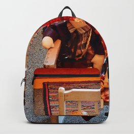 Vintage Dolls in a Chair Backpack