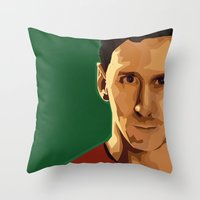 messi Throw Pillows featuring Leo Messi by fatimakhaled95