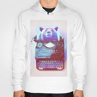 writer Hoodies featuring Grizzly writer by RedGoat