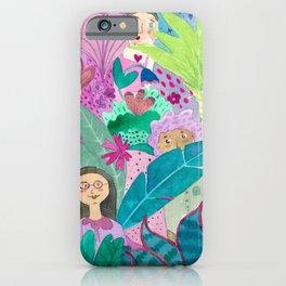 Watercolor women flowers nature  iPhone Case