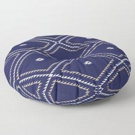 Navajo Pattern - Tan / White / Navy Floor Pillow