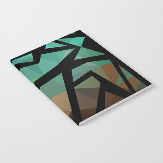 Abstract background of triangles polygon print. Bright dark design colors Notebook