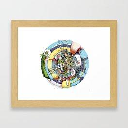 Material Mishmash Framed Art Print
