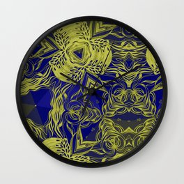 KALEIDOSCOPE - YELLOW Wall Clock