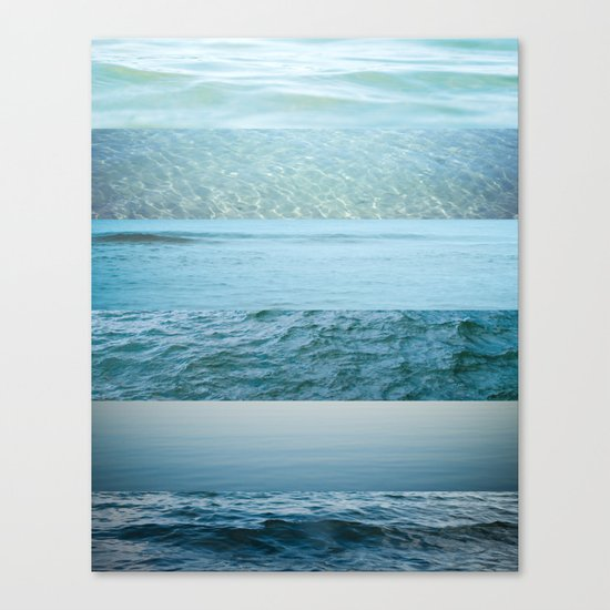 Water Study abstract blue waves Canvas Print
