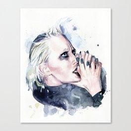 Praying for tough times to end Canvas Print