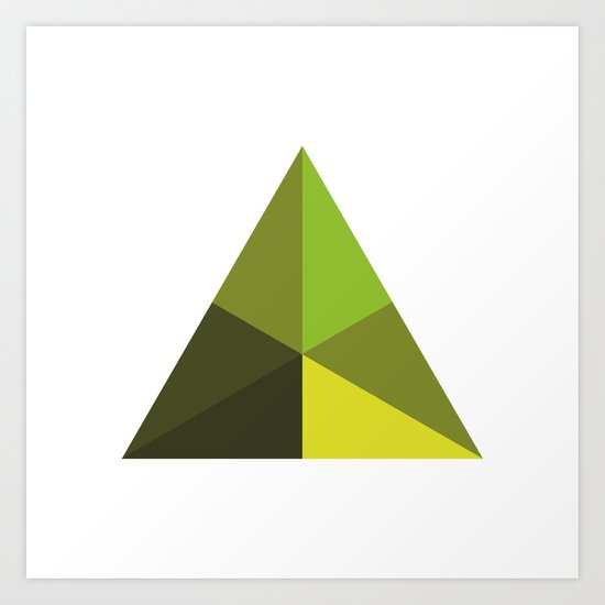 #126 Pyramid – Geometry Daily Art Print