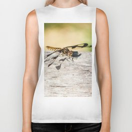Hello Dragonfly Biker Tank