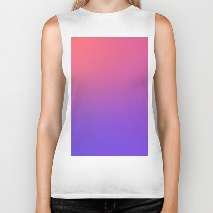 HALLOWEEN CANDY - Minimal Plain Soft Mood Color Blend Prints Biker Tank