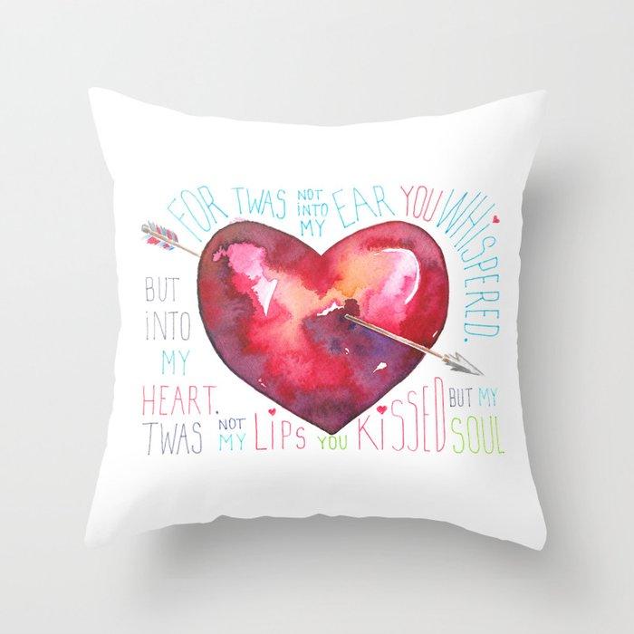 Arrow Through My Heart Throw Pillow