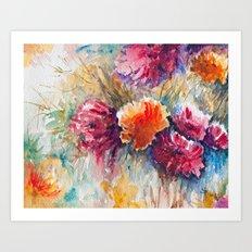 Watercolor Floral Bouquet  Art Print