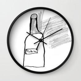 Bottle of Milk Wall Clock