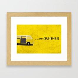 Little Miss Sunshine Minimalist Poster Framed Art Print