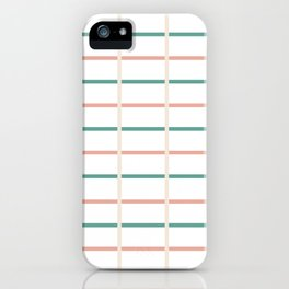Minimal lines- vertical and horizontal iPhone Case