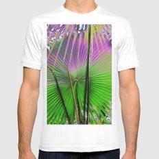 palm leaf design White Mens Fitted Tee MEDIUM