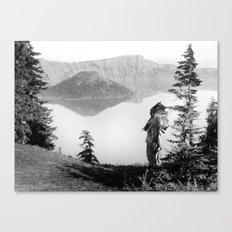 The Chief - Klamath Edward Curtis, 1923 Canvas Print