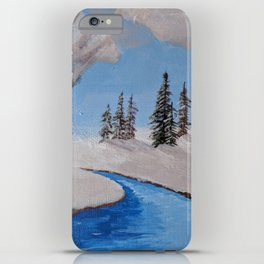Fire by the Creek iPhone Case