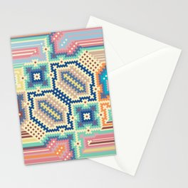 Multi Colour Spring Geometricals Stationery Cards