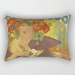 BEER Brewery Alphonse Mucha Rectangular Pillow