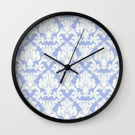 wedgewood blue damask Wall Clock