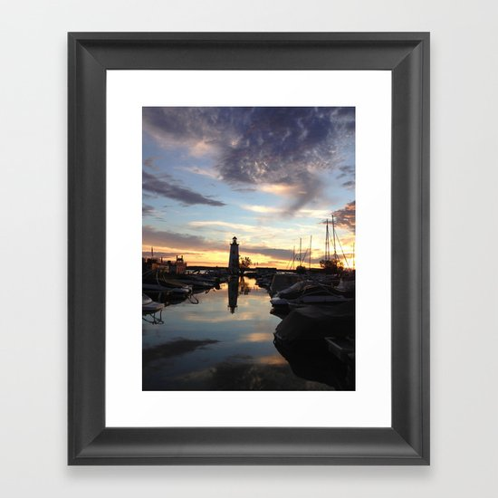 Sylvan Lake Lighthouse Framed Art Print
