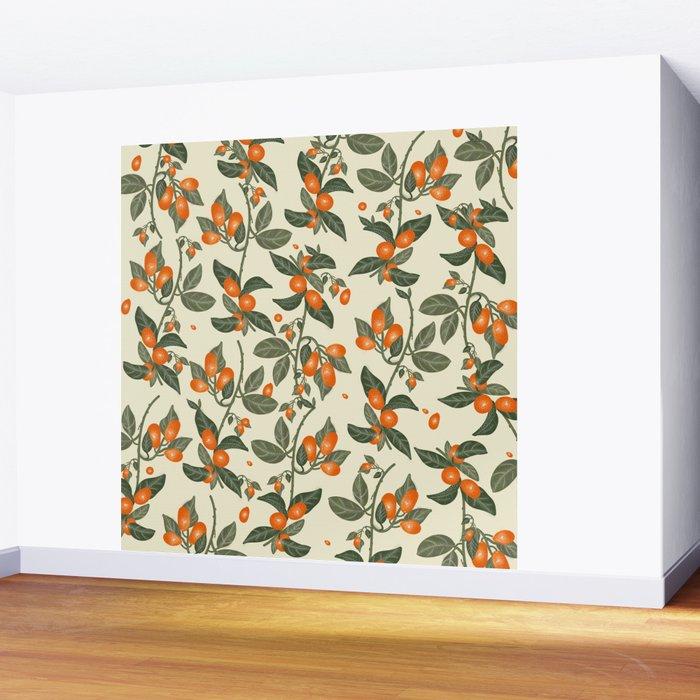 Oranges Pattern Wall Mural