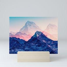 Dreamy mountains of the Himalaya. Digital artwork. Mini Art Print