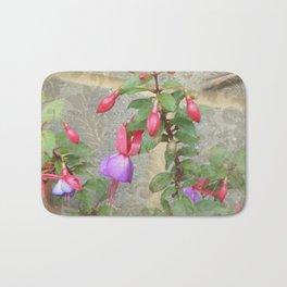 Bleeding Heart Wall Flowers  Bath Mat