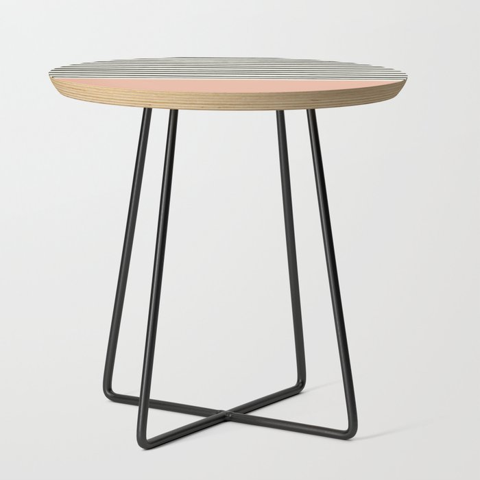 Peach x Stripes Side Table