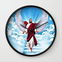 Lord In Heaven Wall Clock