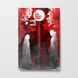 A GIRL WALKS HOME ALONE AT NIGHT :: POSTER 01 Metal Print
