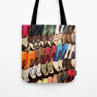 arabic Tote Bags featuring Arabic Shoes by Ashley-liv