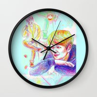 shinee Wall Clocks featuring SHINee Onew by sophillustration