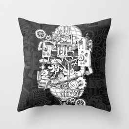 Hungry Gears Throw Pillow