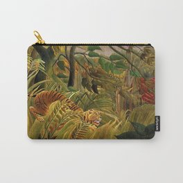 Tiger in a Tropical Storm - Surprised! by Henri Rousseau Carry-All Pouch
