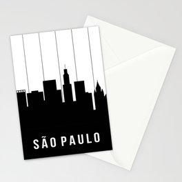 São Paulo Skyline Stationery Cards