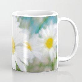 Daisies flowers in painting style 4 Coffee Mug