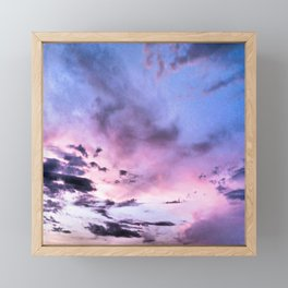 fly up to the blue pink sky Framed Mini Art Print